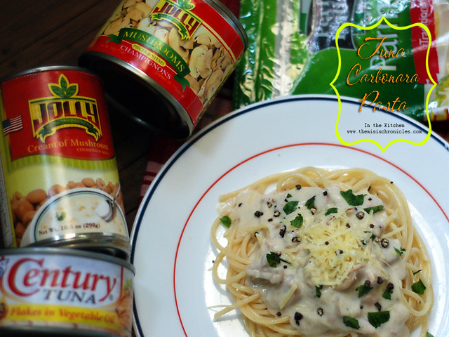 tuna carbonara pasta ingredients