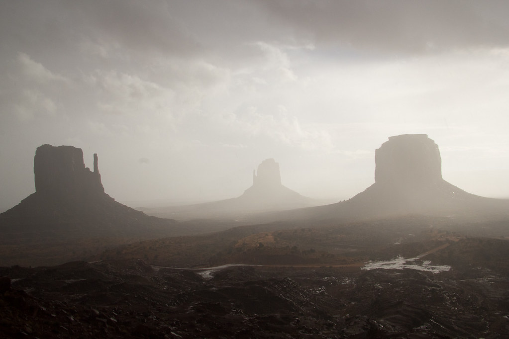 Cloudy Sunrise in Monument Valley - View from TheView Hotel Room