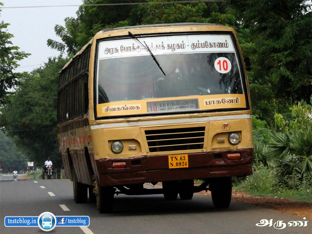 TN-63N-0924 of Sivagangai Depot Route 10 Sivagangai - Paganeri.
