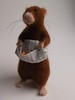 Needle Felted Apple Scrumping Rat