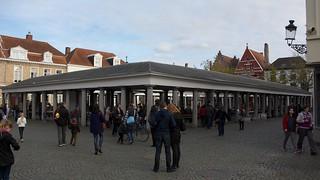 Image of Vismarkt. belgium bruges flanders vismarkt