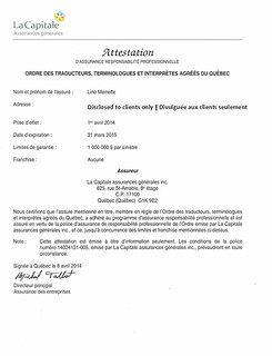 preuve d'assurance-responsabilité 2014-2015 sans adresse
