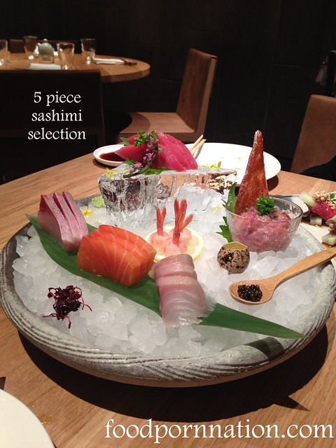 5 piece sashimi selection