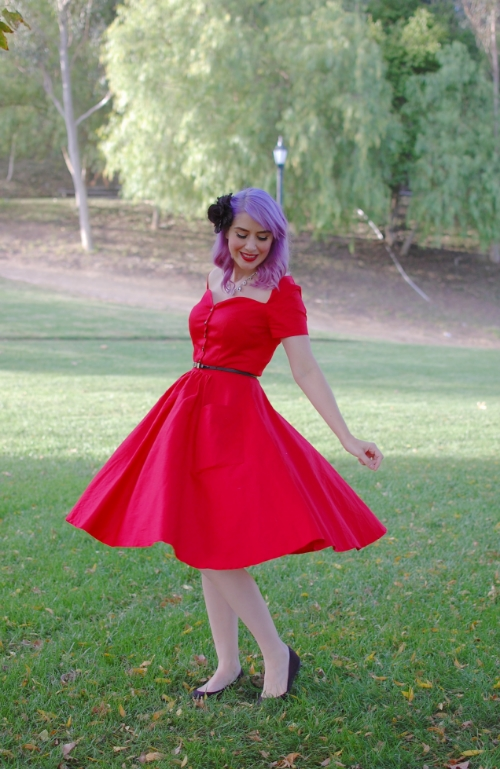 Unique Vintage Red Rhapsody dress