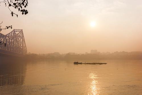 morning india nature sunrise river boat fisherman december ngc kolkata ganges westbengal howrah cwc chennaiwekendclickers