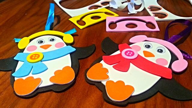 Baker Ross penguin jewel decoration kit, Baker Ross Christmas crafts