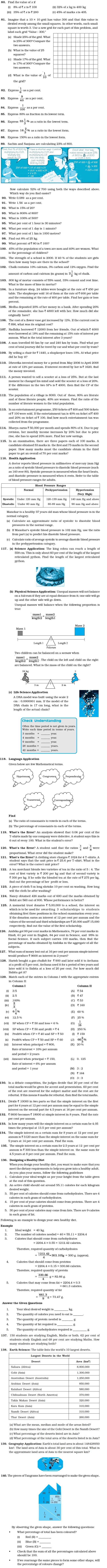 Class 7 Important Questions for Maths – Comparing Quantities