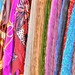 Brightly coloured scarves in Bellagio,Italy