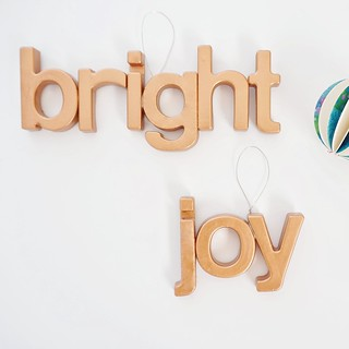 DIY Magnet Letter Ornaments