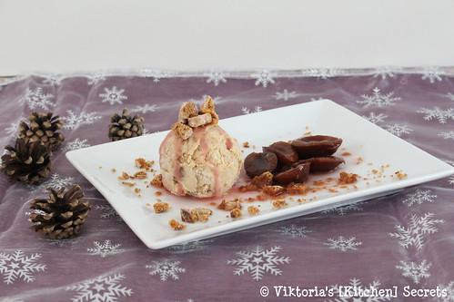 Lebkucheneis mit Glühweinzwetschken, Viktoria's [Kitchen] Secrets