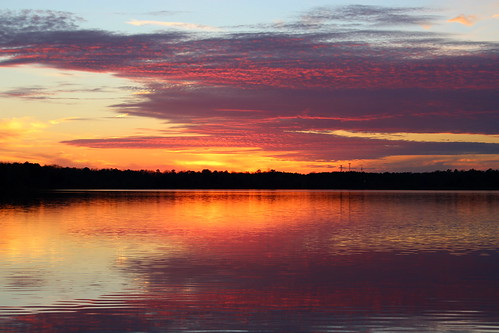 sunset reflections northcarolina newyears lakecrabtree