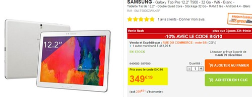 2014-12-05 12_50_24-Samsung - Galaxy Tab Pro 12,2''T900 - 32 Go - Wifi - Blanc - pas cher Achat_Vent