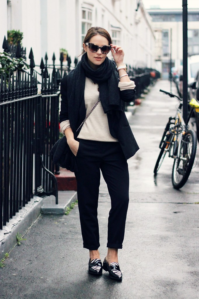 HUSH black oversized blazer