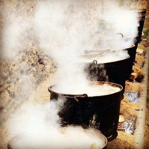 Calderes fumejant #escudella #SantaLlúcia #Gelida #Penedès