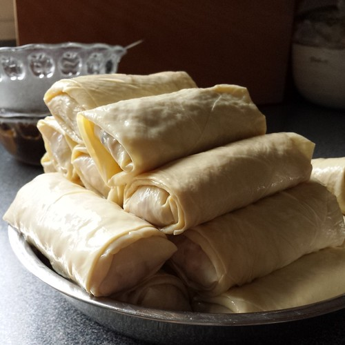 Steamed Pork & Shiitake Bean Curd Rolls