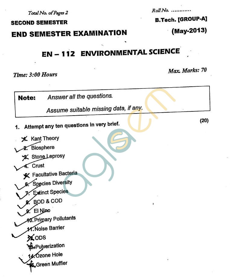 DTU: Question Papers 2013 – 2 Semester - End Sem - EN-112