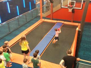 Basketball trampolining