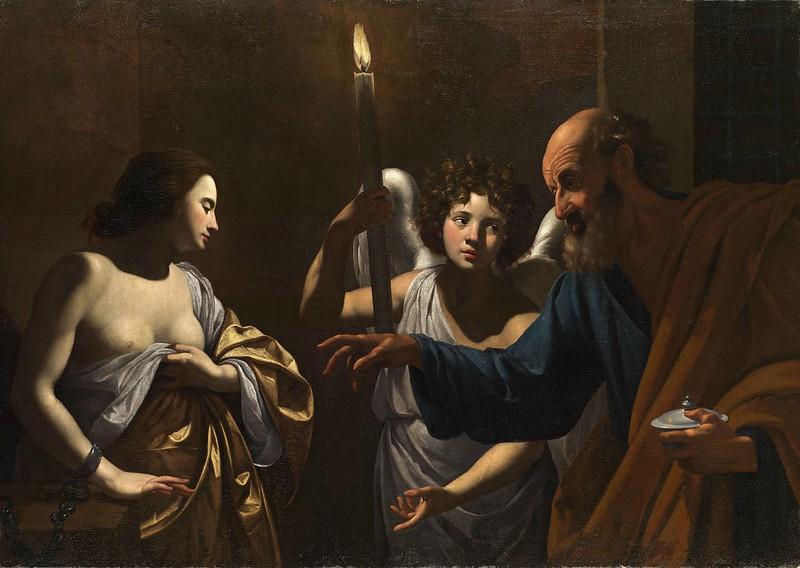 Simon Vouet - Saint Peter Visiting Saint Agatha in Prison (c.1624)