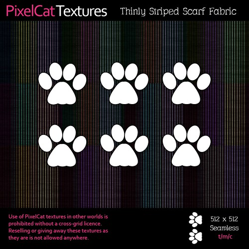 PixelCat Textures - Thinly Striped Scarf Fabric