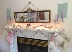 Christmas 2014 living room / mantel