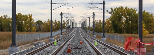 Photo of tracks along Peña Boulevard