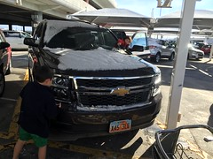 truck(0.0), auto show(0.0), chevrolet(1.0), automobile(1.0), automotive exterior(1.0), sport utility vehicle(1.0), wheel(1.0), vehicle(1.0), rim(1.0), chevrolet tahoe(1.0), bumper(1.0), motor vehicle(1.0),