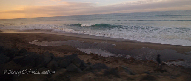 Sunrise along the coast from somewhere between Solana beach and the next stop