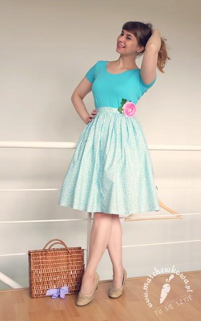 blog, marchewkowa, szycie, krawiectwo, bawełna, cottonbee, sewing, 50s, 60s, szyciowy blog roku 2012