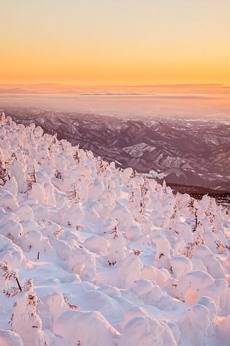 sunset japan landscape pentax 日本 yamagata zao 山形 k3 山形県 yamagataprefecture zaosnowmonster 蔵王樹氷