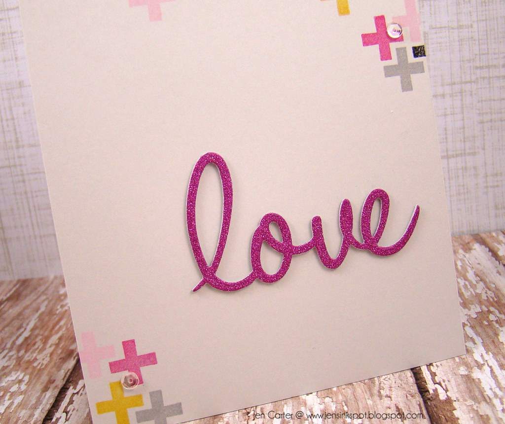 Jen Carter Clearly Whimsy Love Word Get Well Soon Closeup