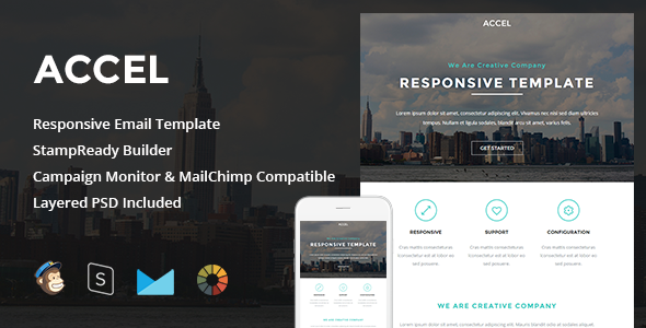 Accel 1.0 – Responsive Email + StampReady Builder