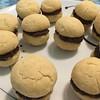 Baci di dama or Baisers de dame cookies. Almond flour base and Nutella ganache. #bacididama #baisersdedame #nutella #ganache #cookies