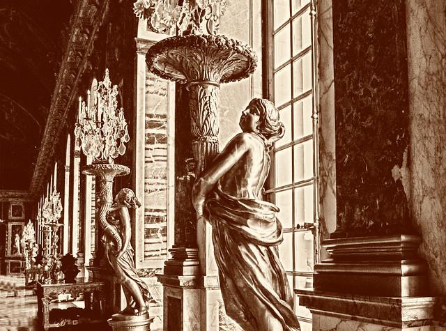 Château de Versailles, en version vieille gravure... Les