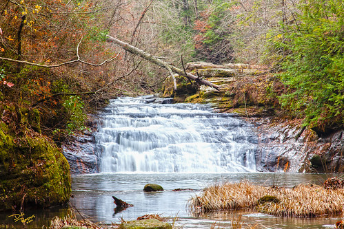 lighting fall waterfall cloudy alabama steam daytime creekbed kinlock doublesprings bankheadnationalforrest atmetastyle