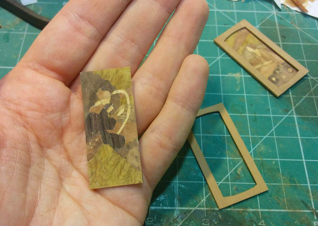 Marquetry panels - WIP