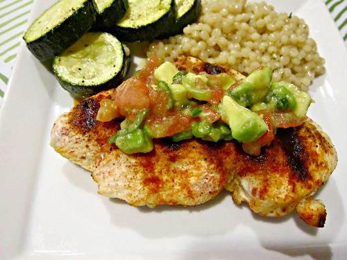 Paprika Chicken with Avocado Salsa
