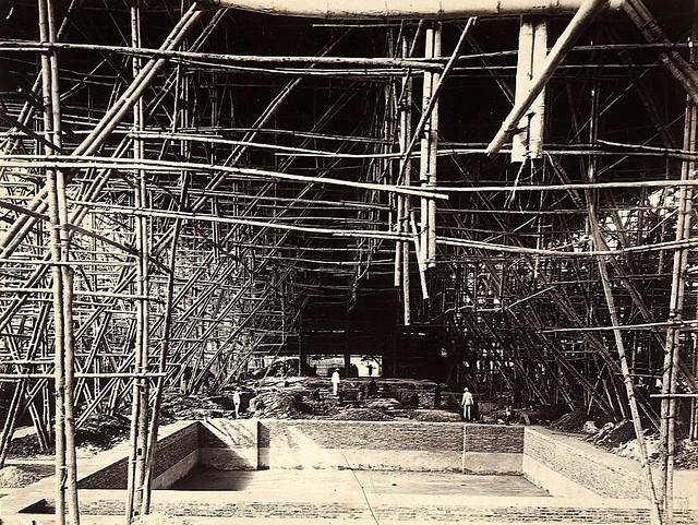 SAIGON ca 1898 - Công trường xây dựng Nhà hát TP