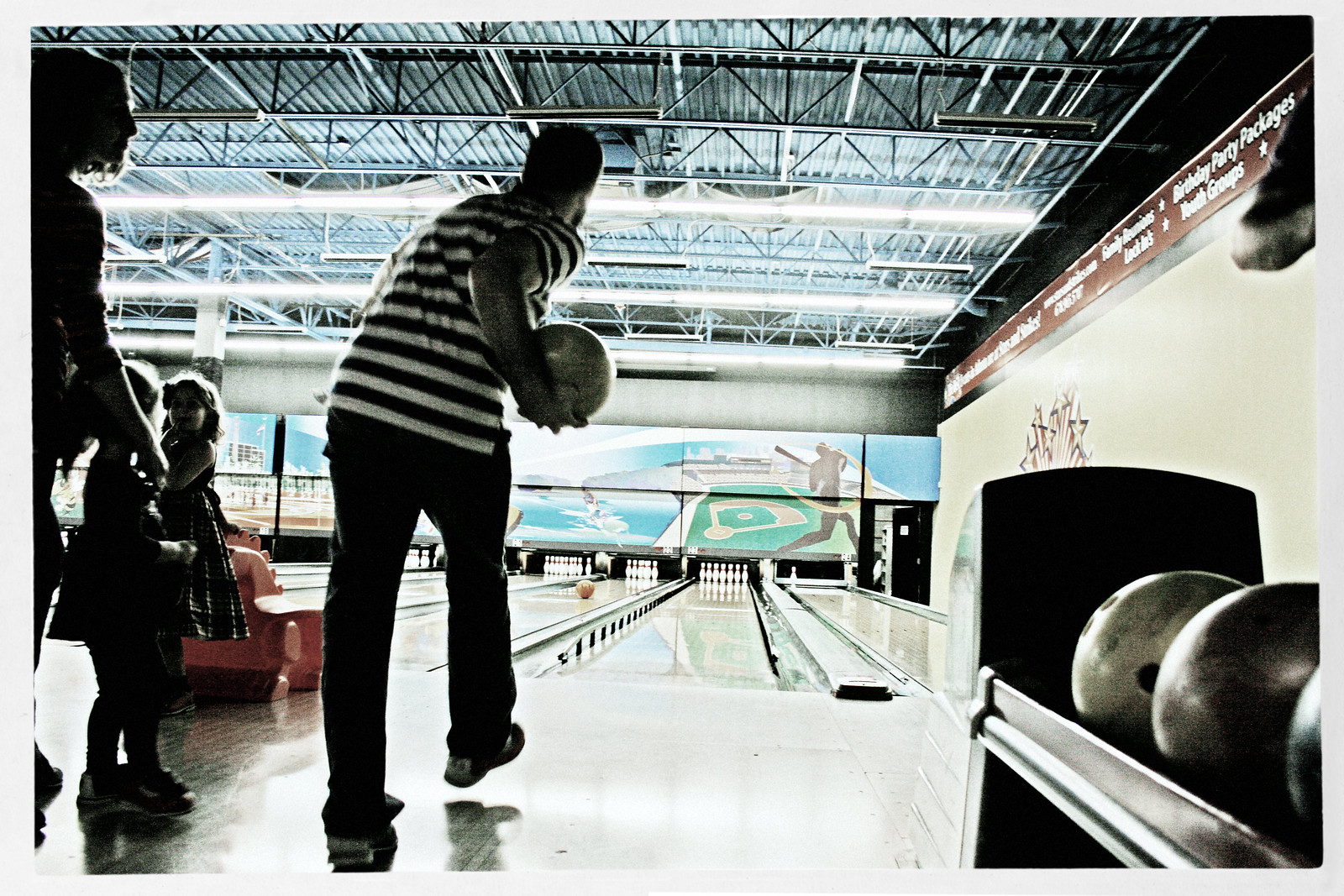 Bowler in Striped Shirt 1, Oct 2014