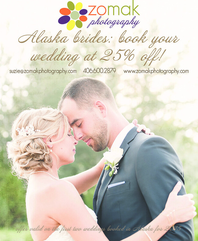 Zo-Mak Photography is now booking wedding, senior and family photo clients in Alaska.