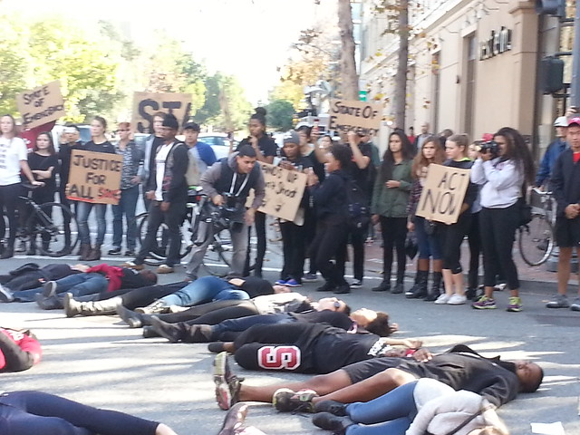 Ferguson Protest in Palo Alto: Stanford Students Shut It Down from Flickr via Wylio