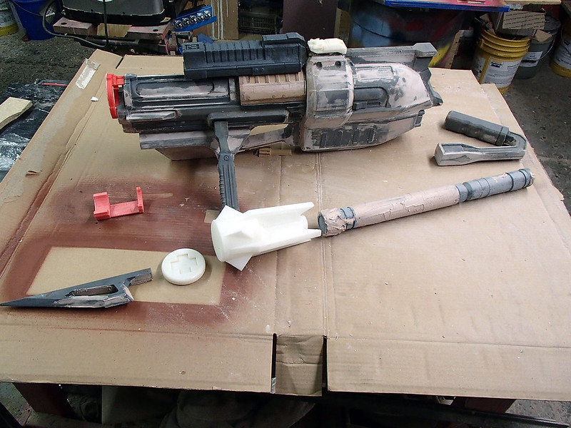 August 7 Harpoon Gun Parts in  Progress
