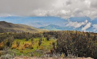 Pretty View of Quito from Pichincha Road