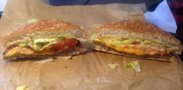 Burger King Four Cheese Whopper with Regular Whopper with Cheese