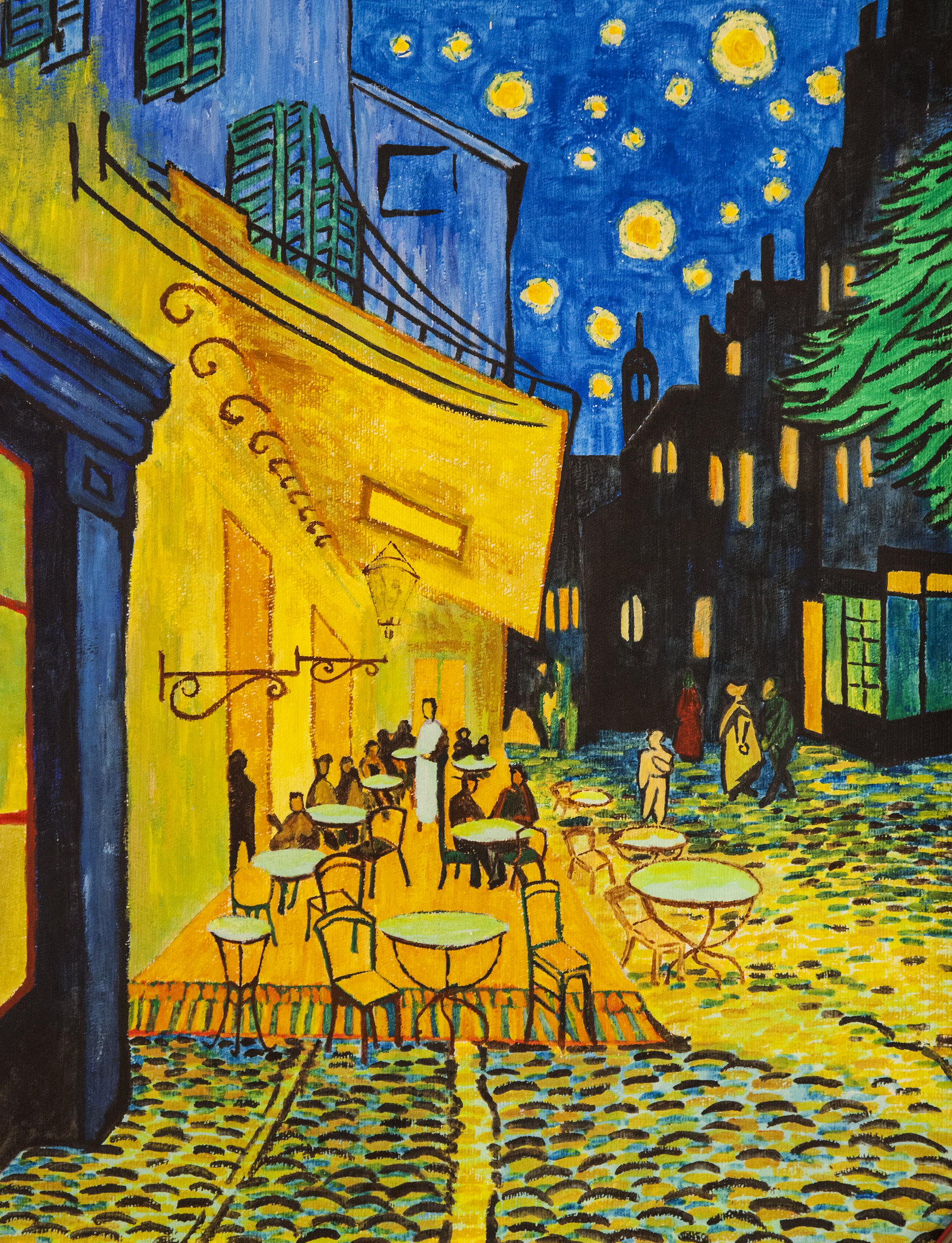 Cafe Terrace at Night, #4