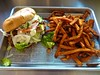 the Piglet and sweet potato fries at Homeskillet in San Francisco