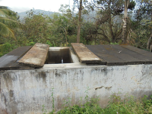 Water from the springs are directed to this tank using pipes.