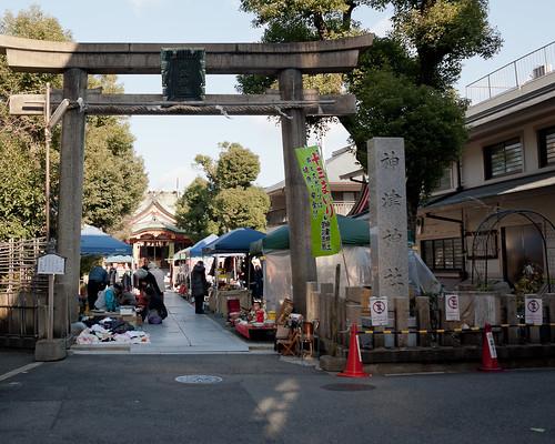 Flea Market in Kamitsu-jinjya shrine