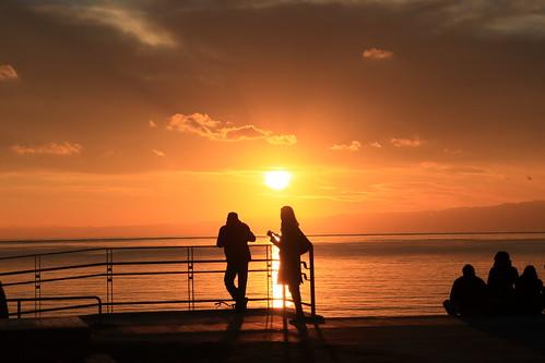 sunset beach couple 夕陽 enoshima eveningglow 片瀬江ノ島
