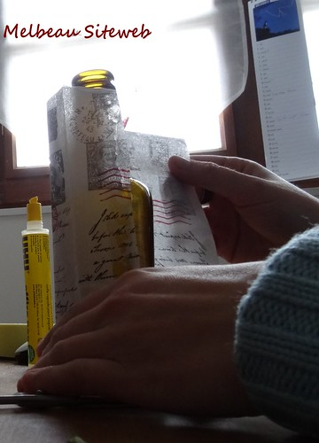 """Les petites bouteilles de verre en """"Noëlées"""""""