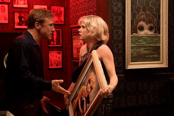 Christoph Waltz and Amy Adams are reluctant cohorts in the elaborate lie of BIG EYES.